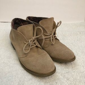 Eddie Bauer leather booties. Size 8